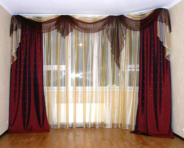 Как сшить шторы и тюль в зал фото 732